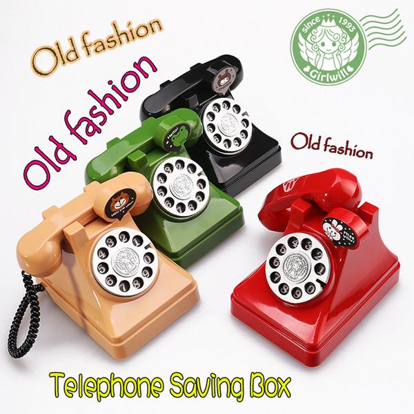 Children's Day toy birthday gift creative money vintage old fashion telephone piggy bank(China (Mainland))