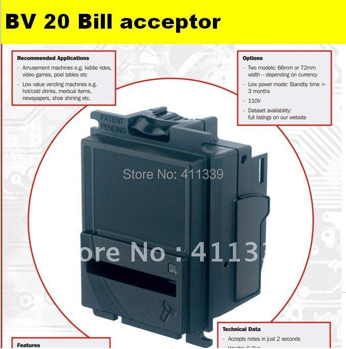 Bill acceptor ITL BV20 bill acceptor for gambling/slot cabinet game machine vending machine(China (Mainland))