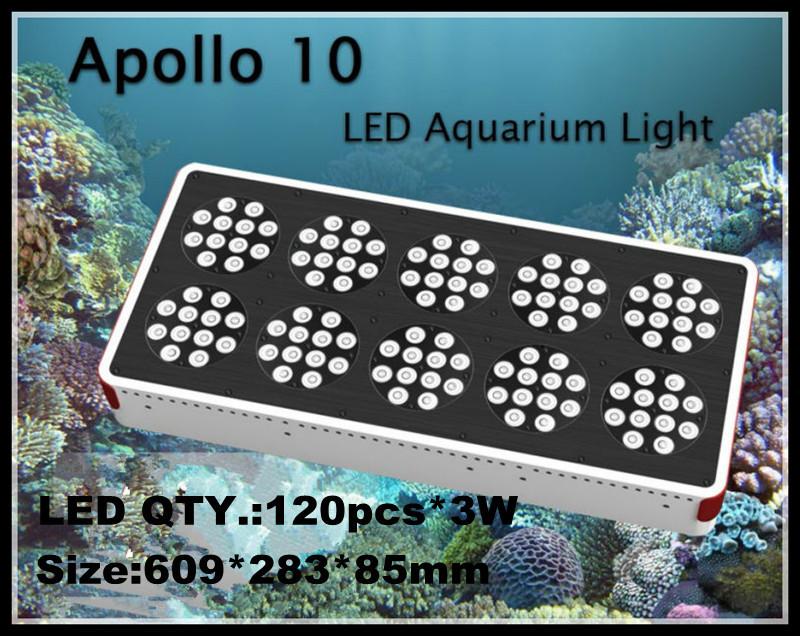 Free Shipping Apollo 10 360w(120x3w) Led aquarium light/Apollo 10 Led tank light(China (Mainland))