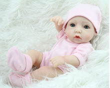 2015  Collectable 11 Inch/28 cm  Peanut Silicone Reborn Baby Dolls Toy Cosplay ,Lifelike Baby Doll Looks So Truly Free Shipping(China (Mainland))