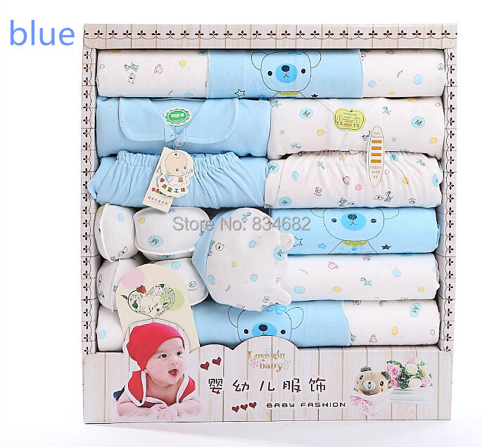 Free Shipping 17pcs Newborn Baby Gift SetInfant Clothing Set Baby Boys Girls High Quality ...