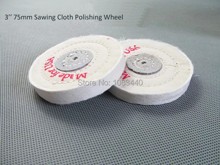 3'' 75mm Sawing Cloth Polishing Wheel for Various Glazing Machine to Buffing Metals & Grinding Crystal 50 Floors Covers(China (Mainland))