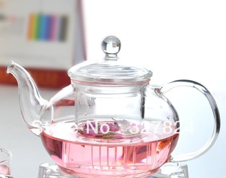 Glass Teapot 600ML Three-piece Set High Temperature Resistance