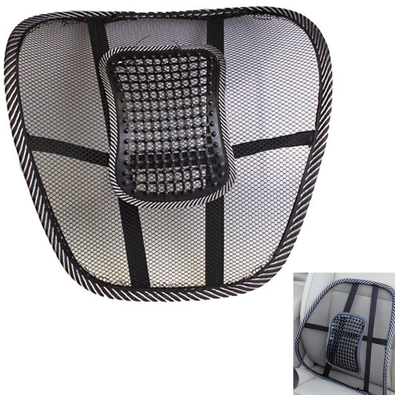 Car Seat Office Chair Massage Back Lumbar Support Mesh Ventilate Cushion Pad body Health care beauty massager high big size(China (Mainland))