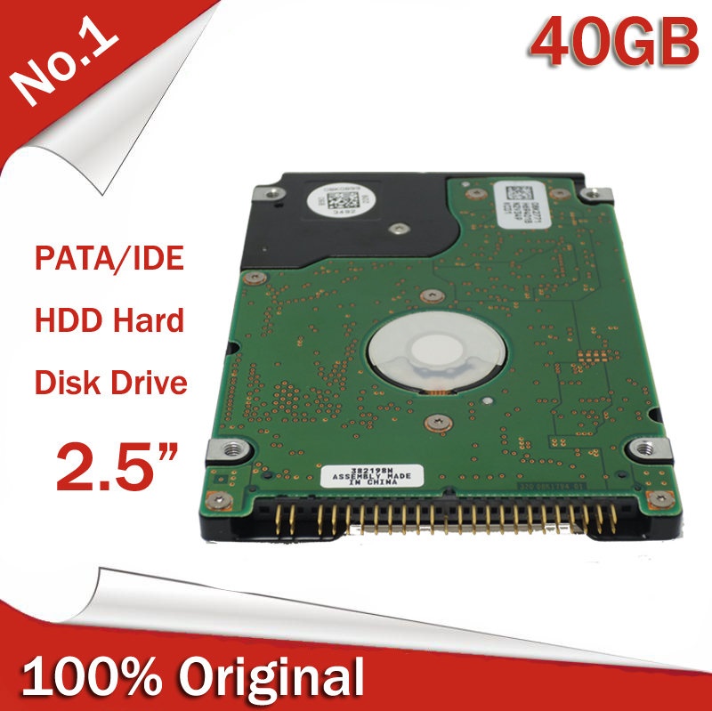 "100% Original New 2.5"" 2.5inch PATA IDE HDD 40GB 5400rpm Internal Hard Disk Drive For Laptop Notebook(China (Mainland))"