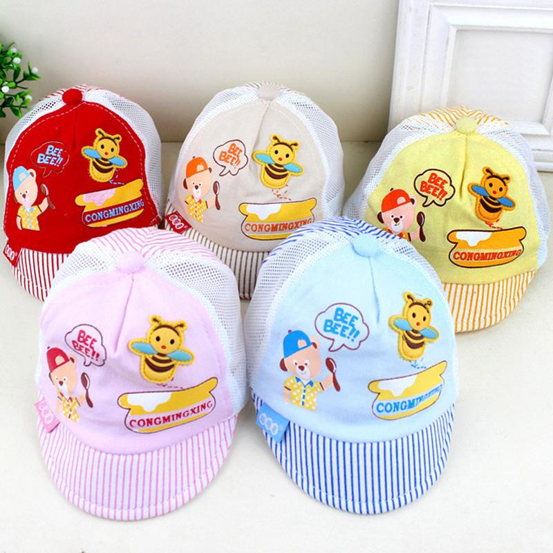 Cute Newborn photography Baby Cap Infant Cartoon Beanie gorras Baby Boy Girl Bee Baseball Cap Kids Cotton Summer Hat bone(China (Mainland))