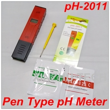 Buy PH-2011 Pen-Type Aquarium pH Meter Drink Water Analyser Resolution 0.01+Temperature Compensation ATC Function +Backlight for $8.50 in AliExpress store