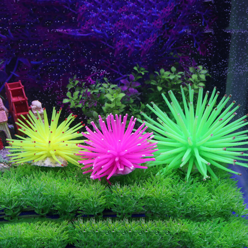 1 Pcs Silicone Aquarium Fish Tank Artificial Coral Plant Underwater Ornament Decor More Color(China (Mainland))