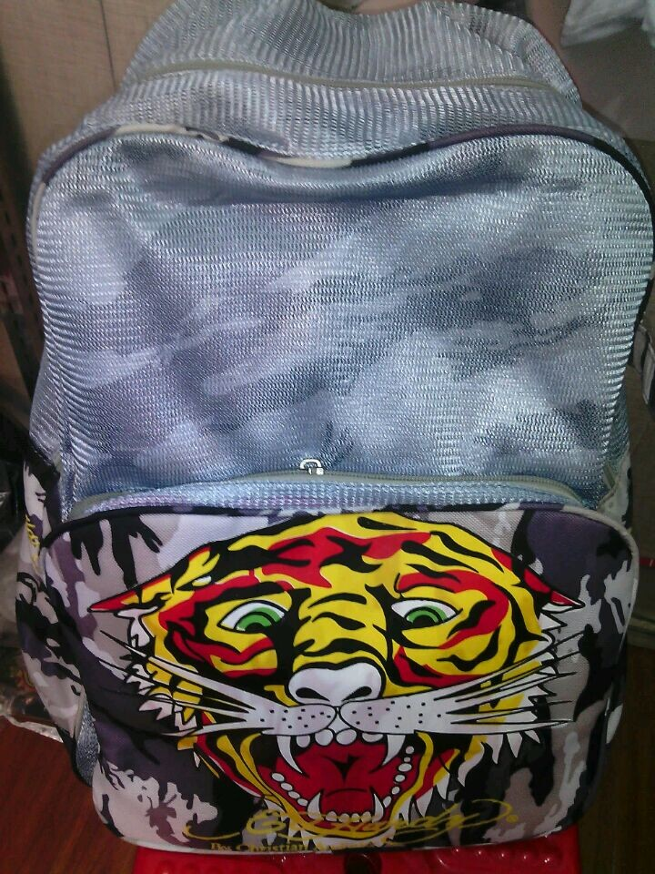 Ed hardy bags ed hardy canvas backpack ed school bag(China (Mainland))