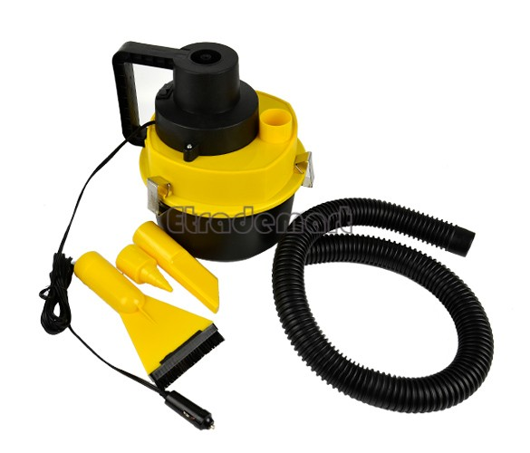 Powerful Portable 90 W high power Car Dust Cleaner Vacuum Cleaner Collector Inflator Wet&Dry Car Air Compressor 8743(China (Mainland))