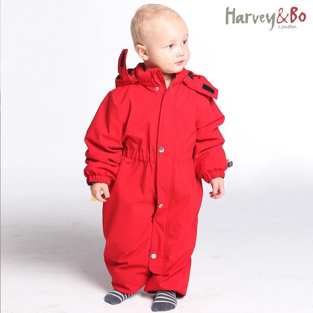 Детские toddle детский зимний комбинезон ветрозащитный водонепроницаемый на открытом воздухе комбинезоны младенческой ползунки с капюшоном один кусок пальто осенью и зимой детская одежда