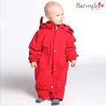 Baby toddle s snowsuit windproof waterproof outdoor overalls infant romper hoodie one piece coat autumn and