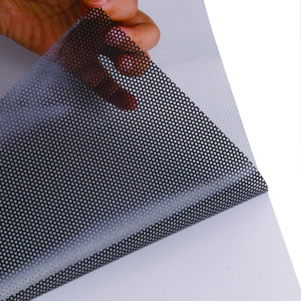 54inx16.5ft Perforated One Way Vision Print Media Vinyl Window Film Perforated Mesh Film (1.37mx5m)(China (Mainland))