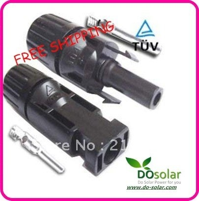 10 Pairs  /LOT, Solar panel MC4 PV connector (female and male) for PV junction box, solar module, FREE SHIPPING in stock
