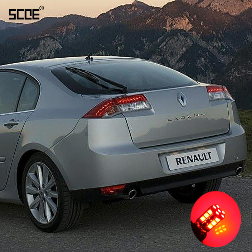 for renault laguna ii for laguna iii scoe 2015 new 2x 30smd led brake stop parking rear tail. Black Bedroom Furniture Sets. Home Design Ideas