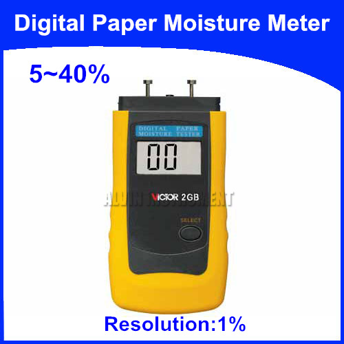 Free Shipping Digital Paper Moisture Meter Tester  specia for paper  Range:5-40%  Accuracy: +-1%+1word