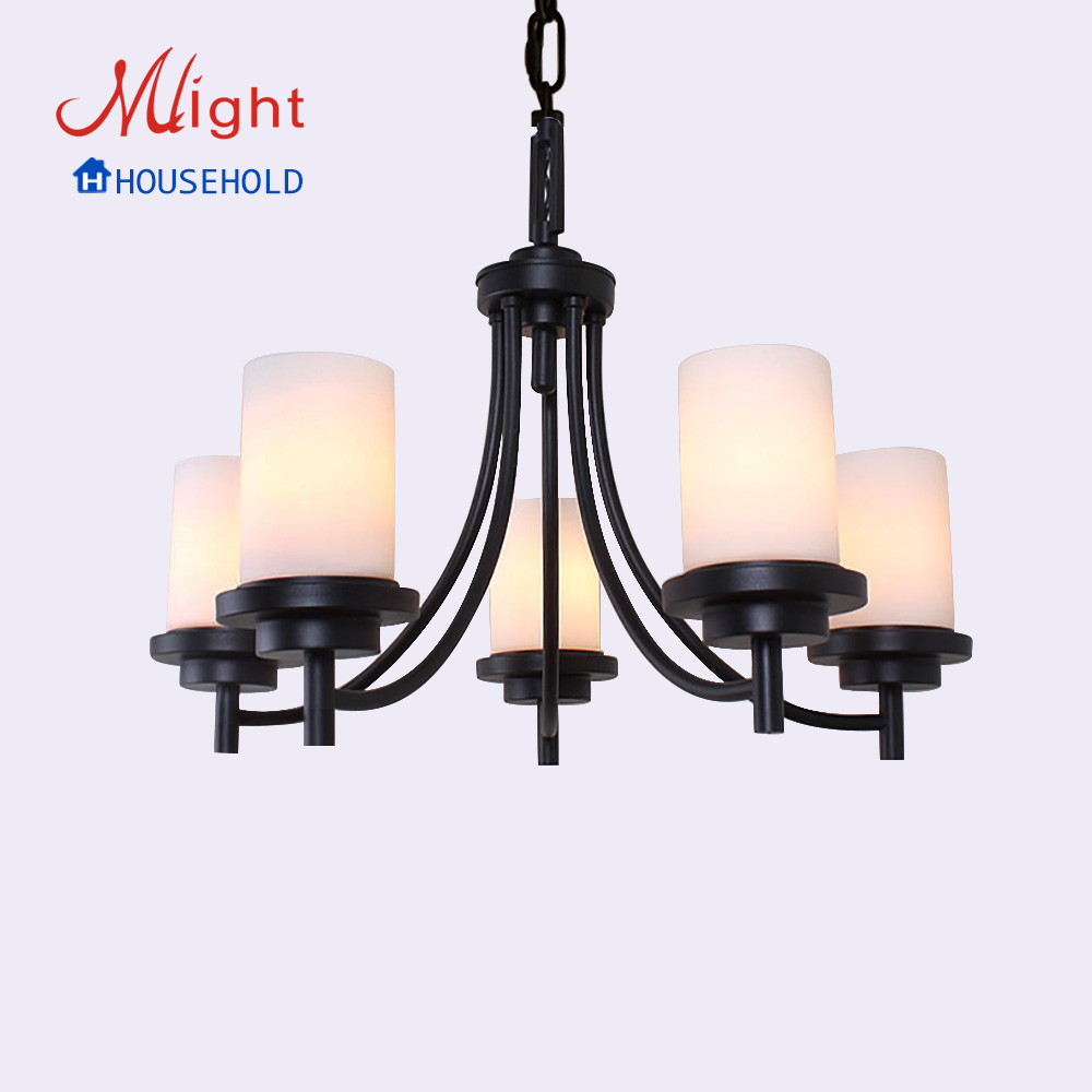 European Style Leron Art Lamp New Traditional Chandelier Five Arms Milk Body Glass Living Room Lamp Avizeler(China (Mainland))