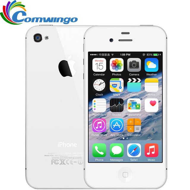 Оригинальный Разблокирована Apple iPhone 4S Телефон 8 ГБ/16 ГБ/32 ГБ ROM GSM WCDMA WIFI GPS 3.5 ''8MP Камеры мобильный Телефон Используется iphone4s