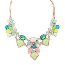 Satr Jewelry Resin Fashion Necklace Charm Gem Cute Maxi Necklaces & Pendants Fashion Jewelry Jewelery Woman Gift