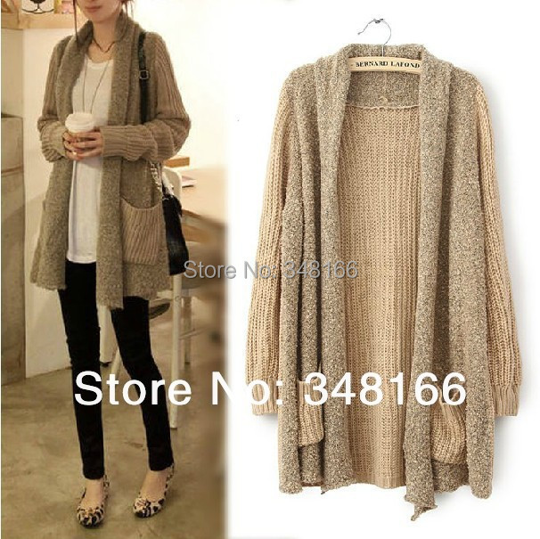 2 color, Womens winter thick sweaters for women knitted long cardigan 20...