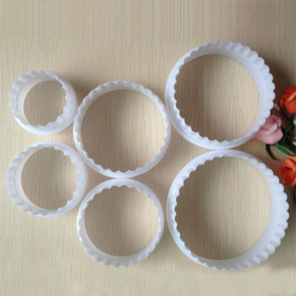 Round Shape Sugarcraft Fondant Cake Decorating Cookies Cutter Paste Mold Tools 6Pcs/set(China (Mainland))