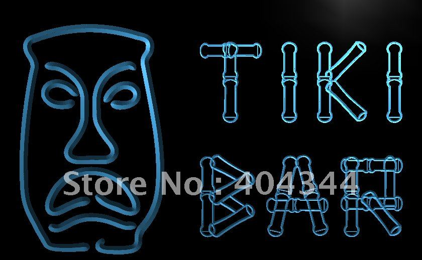 LB552- Tiki Bar Bamboo Display Mask LED Neon Light Sign(China (Mainland))