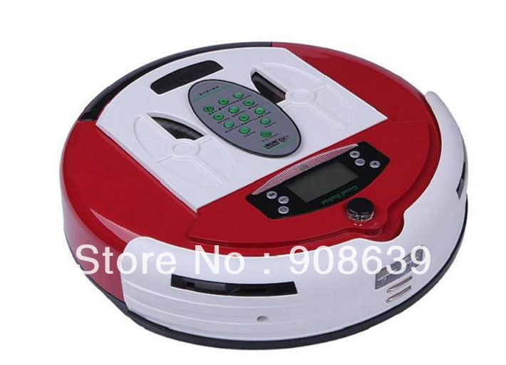 Free Shipping 4 In 1 Newest Multifunctional Wet&Dry Moping Smart Vacuum Cleaner Robot+0.7L Rubblish Box+Dirt Detection Function(China (Mainland))