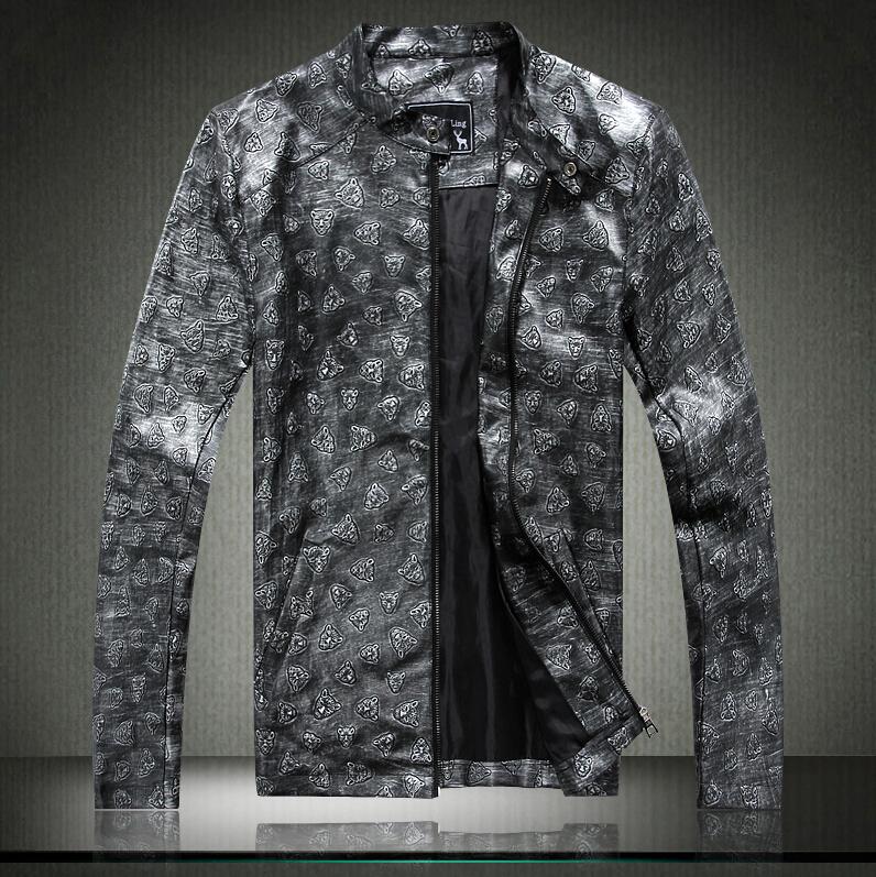 Free shipping jacket men leather jacketcollar men's leather motorcycle leatherwinter jacket men leather jacket men(China (Mainland))