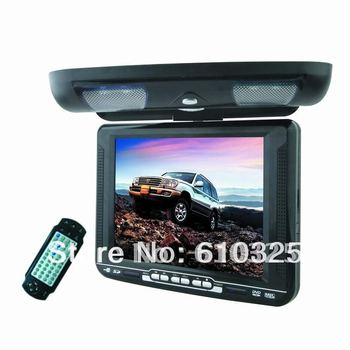 """10.4"""" Flip Down Car DVD Player Roof Mount DVD Player Flip Down Monitor Wireless Game IR USB SD FM Free Shipping Wholesale/Lot"""