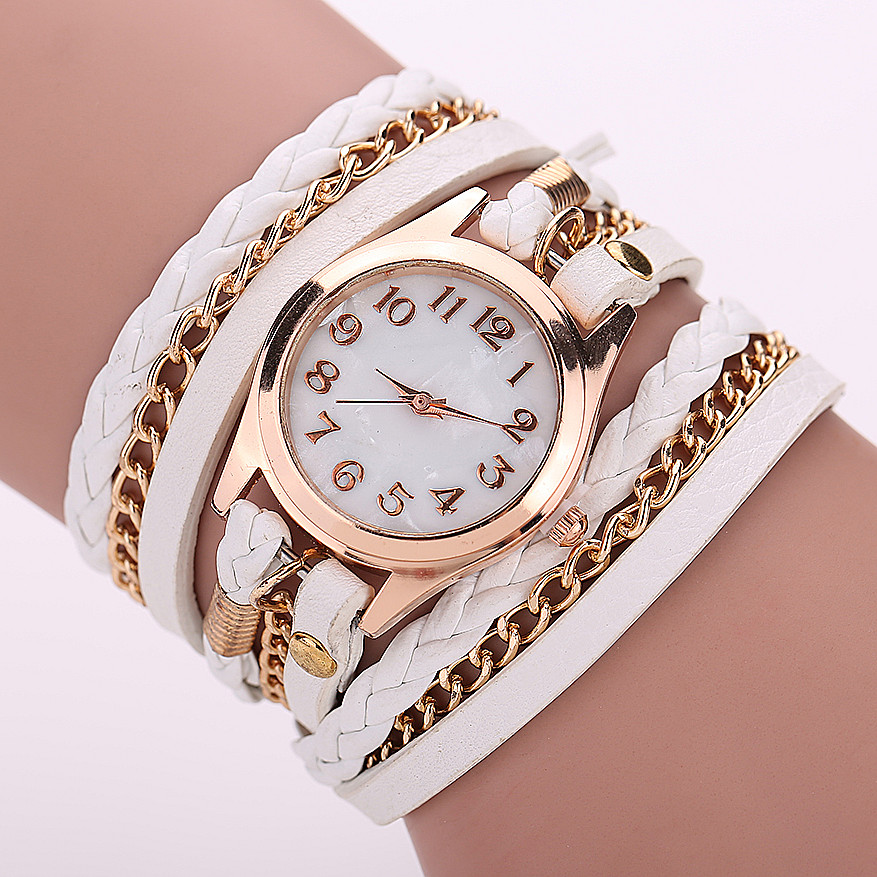 Leather Strap Quartz Watches Gold Fashion Leather Bracelet Women Dress Watches Reloj Mujer 2015 Hot Sale Relogio Feminino BW1071(China (Mainland))