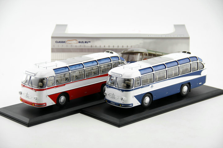 Fine Original 1:43 Russian LAZ 697E bus model Alloy Collection Model The number of rare Two colors are shipped in random order(China (Mainland))