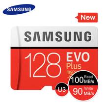 SAMSUNG Novo Cartão de Memória Micro SD EVO + 128 gb gb gb 95 32 64 C10 mb/s 100 mb/s SDHC SDXC U1 U3 32 64g g Cartões Tf 100% Original(China)