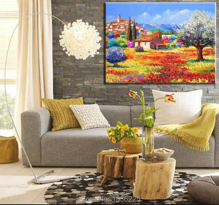 hand painted art painting on canvas for sale mountain