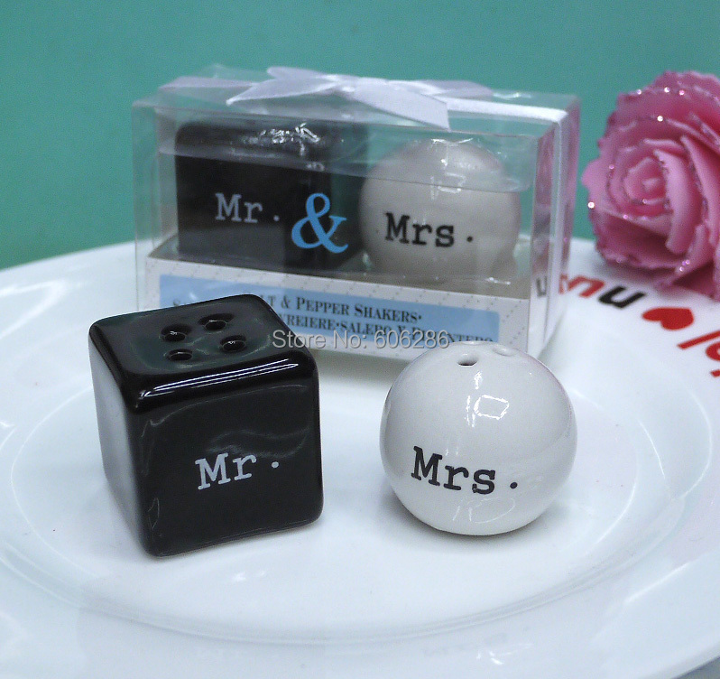 Wedding Favors And Gifts Mr Mrs Ceramic Salt And Pepper Shakers