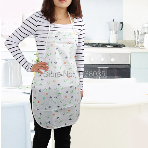 Fashion cute printing waterproof kitchen apron hairdresser Satin adult apron waterproof grease cooking tool cozinha accessories(China (Mainland))