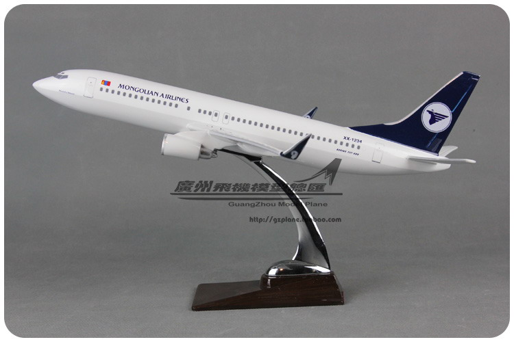 38cm 1:104 Air Aero Mongolian Airlines Boeing B737 800 XX-1234 Airways Resin Airplane Model Plane Model Toy Collections(China (Mainland))