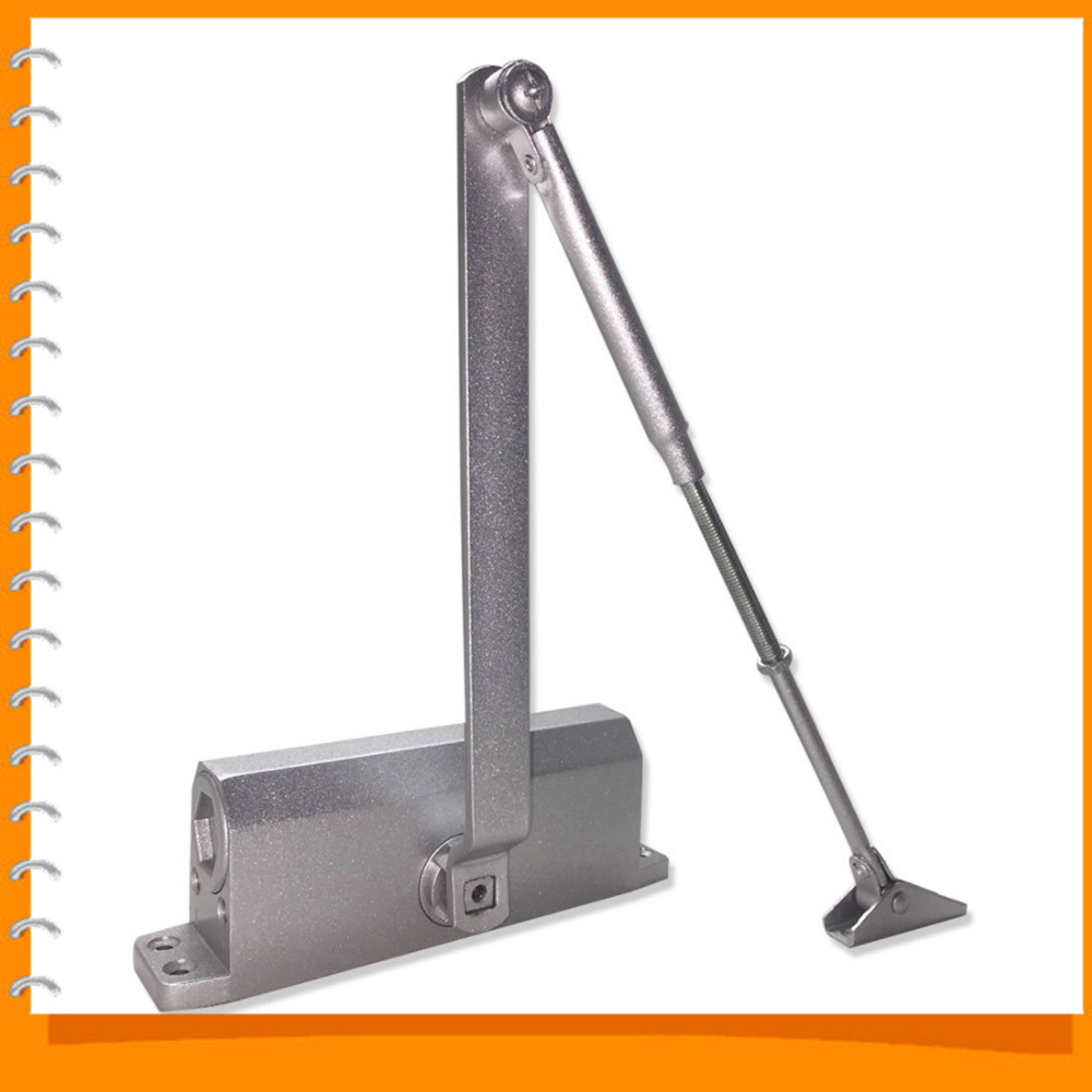 Commercial Door Closer 65-85kgs Silver Aluminium Alloy for Stainless Fireproof Iron Doors <br><br>Aliexpress