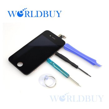 High Quality  LCD for iphone 4 4G  with touch digitizer Electric Capacity LCD Screen Free Shipping UPS DHL HKPAM