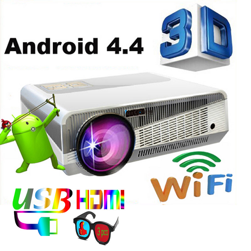 5500 Lumens Smart Lcd Tv Led Projector Full Hd Support: 5500 Lumens Smart Android 4.4 Led Projector 1280*800 Full