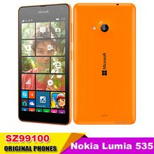 "Original Nokia Lumia 535 Cell Phones Windows Phone 8.1 5.0"" Touch Screen Quad Core Dual SIM 8GB Storage 5MP Camera Refurbished(China (Mainland))"