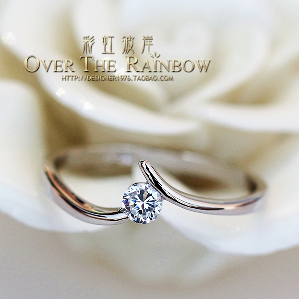 High artificial 20 women's diamond ring zircon hearts and arrows marriage accessories