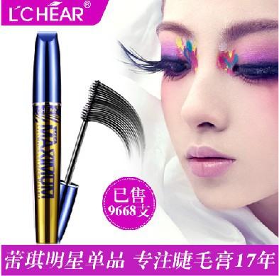 L'CHEAR Big Eyes Mascara Make Up Waterproof Lengthening Thick Super Slim Natural Curling Mascara Cosmetics Makeup Not Blooming(China (Mainland))
