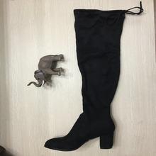 Faux Suede Comfort หนาต้นขาสูงรอง(China)