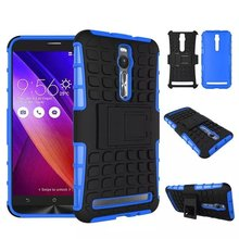 For Zenfone 2 ZE551ML Heavy Duty armor stand case For ASUS Zenfone 2 (5.5) ZE551ML ZE550ML case Free Shipping(China (Mainland))
