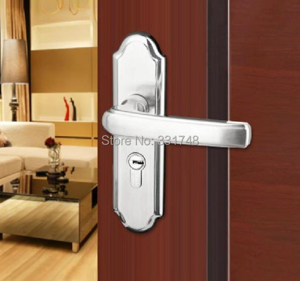 bedroom lever handle door lock for wooden steel plastic door xp8m9