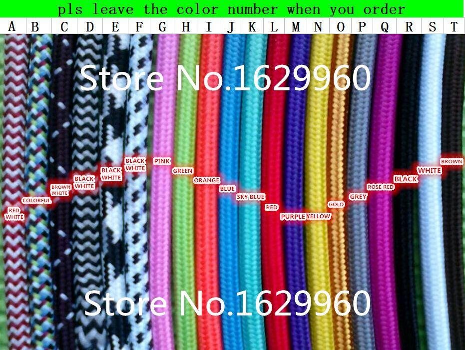 Meters black color core mm textile electrical