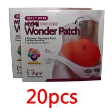 20pcs MYMI Wonder Slim patch burn fat belly weight loss patch Abdomen slimming Free shipping(China (Mainland))