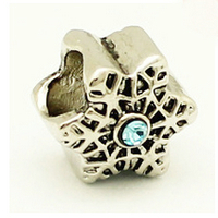 Wholesale Accessories Rhinestone + Five-pointed star DIY 5MM metal charm bead.Fits pandora bracelet Christmas Mother's Day gift(China (Mainland))