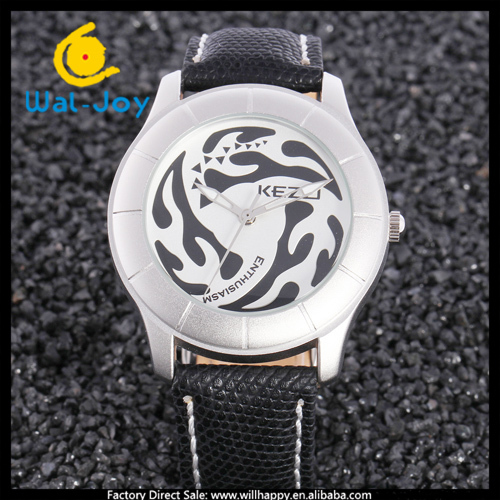 20/lot Kezzi vogue hot sale attractive high quality leather unisex water resistant watch(WJ-3541)(China (Mainland))