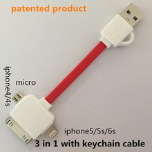 3 1 keychain usb cable Charging & data sync Applicable otg usb micro usb cables 3m ugreen nexus 5x magnetic charger